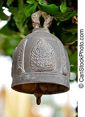 buddhist bell - small buddhist bell hanging to worship.