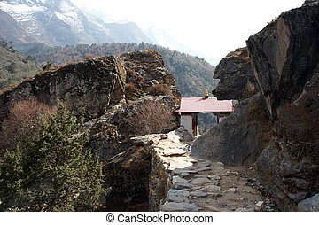 Small buddhist temple at Everest trail, Nepal