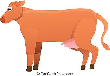 Small bull icon, cartoon style