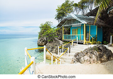 Small Bungalow at the ocean of Siquijor, Philippines, Asia