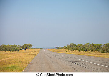runway on a private game reserve in South Africa - Small ...