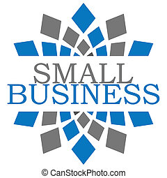 Small Business Blue Grey Elements Square - Small business...