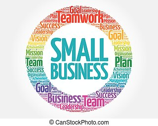 Small Business circle word cloud