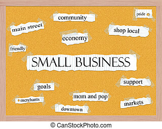Small Business Corkboard Word Concept with great terms such...
