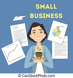 Small business illustration.