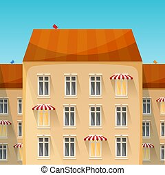 Small business in the city vector concept in flat style