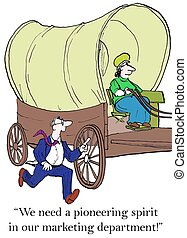 """Small business man wants to hire a pioneer woman - """"With ..."""