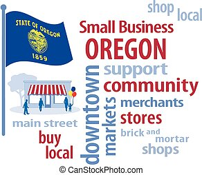 Small Business Oregon, Flag