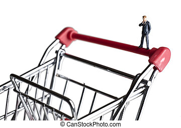 Small business shopping for capital - Businessman figurines...