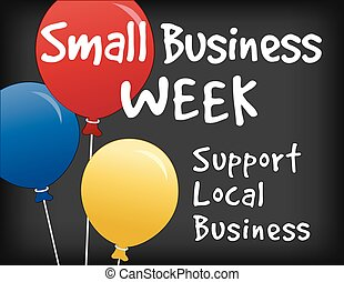 Small Business Week Chalkboard Sign