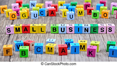 Small Business words on table