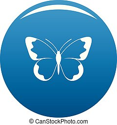 Small butterfly icon blue vector