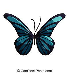 Small butterfly icon, cartoon style