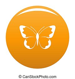 Small butterfly icon orange