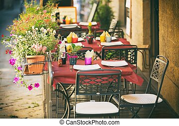 Small cafe in Tuscany, Italy