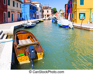 Small canal in Venice Italy