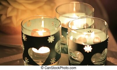 Small Candles Flickering.