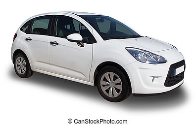 Small Car - A small white family car