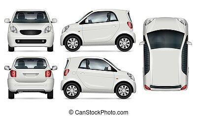 Small car vector mockup