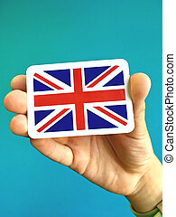 Small card of national flag of Great Britain