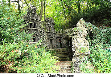 small castle in the forest