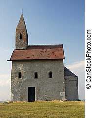 Small catholic chapel in Slovakia. Village Drazovce.