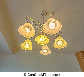 Small chandelier in model home