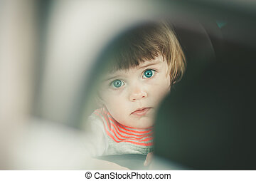 small child in the car
