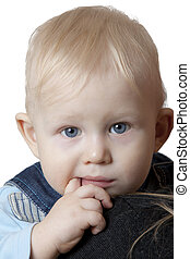 small child on white background
