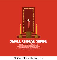 Small Chinese Shrine Vector Illustration