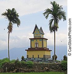 small christian chapel on samosir island