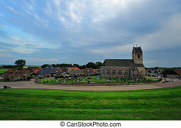 little village called Wierum, Friesland The Netherlands -...