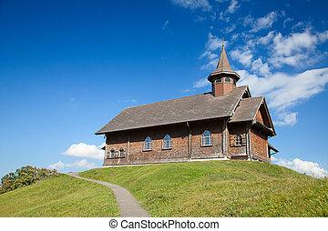 Church in alpine village