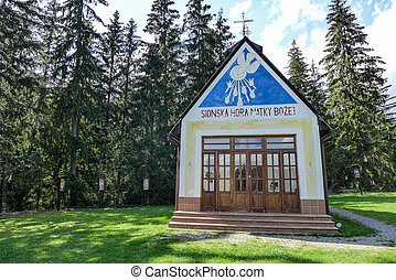 Small church in forest, Slovakia