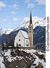 Small church in Scuol (Switzerland)