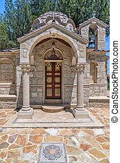 Small church in village on Cyprus - Small orthodox church in...