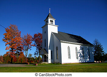 Small Church - Small historic church in Pennsylvania against...