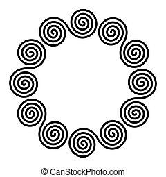 Small circle shaped frame of linear double spirals - Small ...