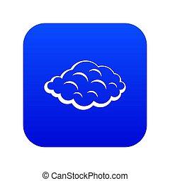Small cloud icon digital blue