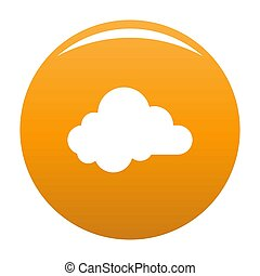 Small cloud icon orange