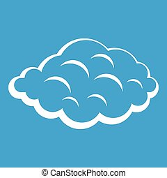 Small cloud icon white