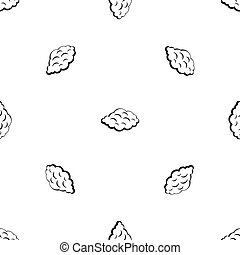 Small cloud pattern seamless black