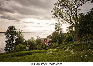 Small coastal village in Sweden