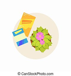 Small Coffee Table Icon Vector Illustration
