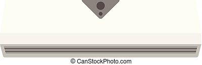 Small conditioner icon, flat style - Small conditioner icon....