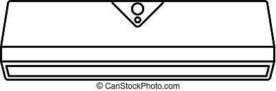 Small conditioner icon, outline style - Small conditioner...