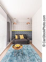 Small, cozy bedroom