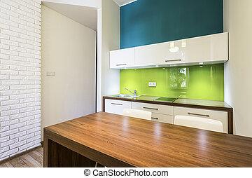 Small cozy kitchen interior