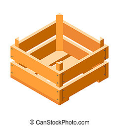 Small crate icon, isometric style