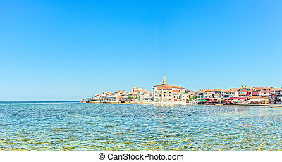 Small Croatian Town Umag - The coast and the promontory of...